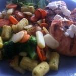Grillad lax med wokgrönsaker
