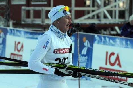 Magda visade styrka och tog sig upp på pallen under sprinten.