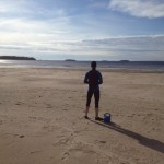 Primal träning på havsbadet