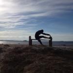 Löpning på havsbadet