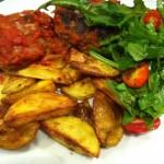 Biffar i ugn med tomatsås